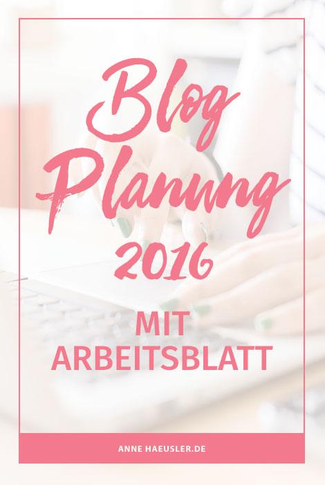 Blog Planung