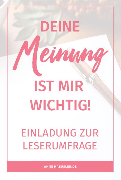 Einladung zur Leserumfrage I www.annehaeusler.de